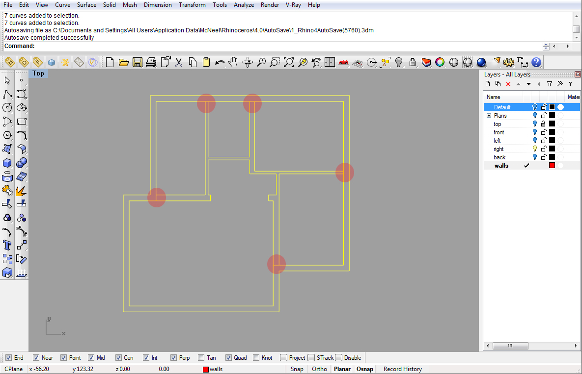 Modeling a simple house Part 1   Rhinoceros 3D Help