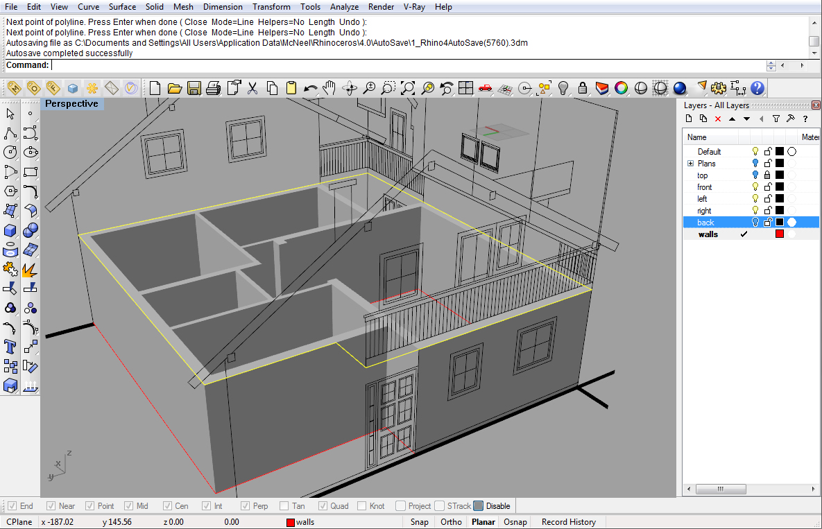 Modeling a simple house Part 1 | Rhinoceros 3D Help
