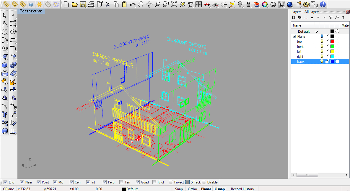 Modeling a simple house part 1 rhinoceros 3d help Simple cad online