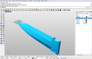 Base blade surface